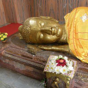 Head of a Buddha in sleeping position